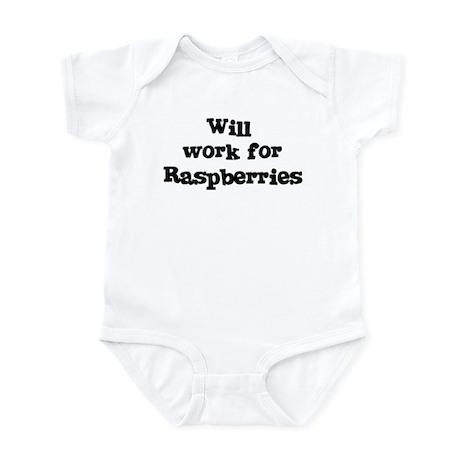Will work for Raspberries Infant Bodysuit