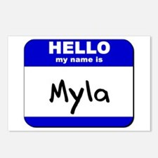 hello my name is myla  Postcards (Package of 8)