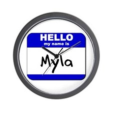 hello my name is myla  Wall Clock