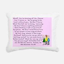 group retirement pink Rectangular Canvas Pillow