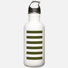 Stripes 1 3x5 W Dk Oli Water Bottle