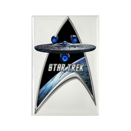 StarTrek Command Silver Signia En Rectangle Magnet