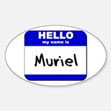 hello my name is muriel Oval Decal