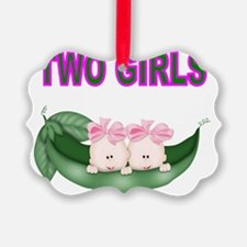 TWO GIRLS IN POD Ornament