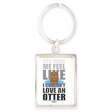 Love an Otter Portrait Keychain