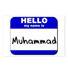 hello my name is muhammad  Postcards (Package of 8