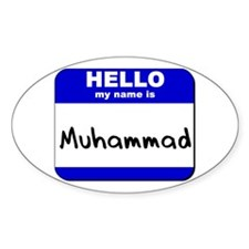 hello my name is muhammad Oval Decal