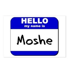 hello my name is moshe  Postcards (Package of 8)