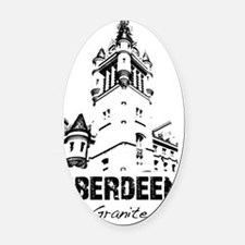 Aberdeen - The Granite City Oval Car Magnet