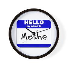 hello my name is moshe  Wall Clock
