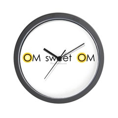Om sweet Om Wall Clock