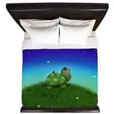 Turtle Moon and Stars (wb) King Duvet