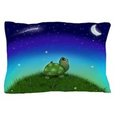 Turtle Moon and Stars (wb) Pillow Case