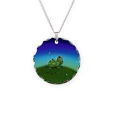 Turtle Moon and Stars (wb) Necklace