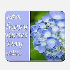 Happy Nurses Day With Blue Hydrangeas Mousepad