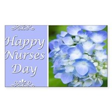 Happy Nurses Day With Blue Hyd Decal