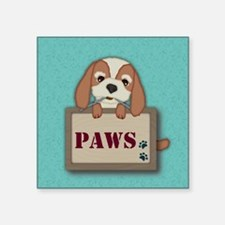 Customisable Cute Puppy Dog with Signboard Sticker