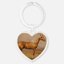 Palomino Horse Heart Keychain