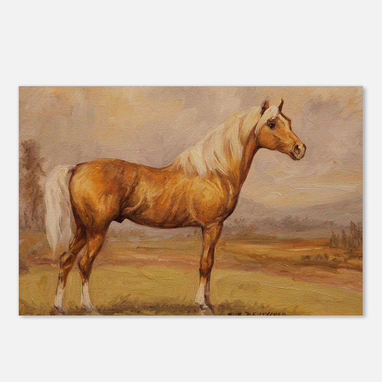 Palomino Horse Postcards (Package of 8)