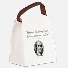 Benjamin Franklin Freedom for Sec Canvas Lunch Bag