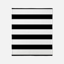 Chic Black and White Stripes Throw Blanket