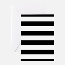 Chic Black and White Stripes Greeting Card