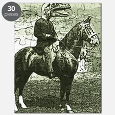 dinosaur man on horse Puzzle
