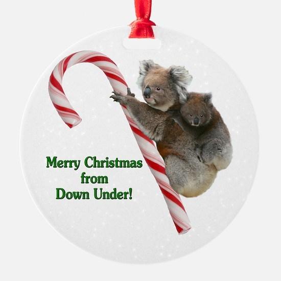 Australia Christmas Koalas on Candy Ornament