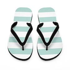 Stripes 1 5x7 W Lt Teal Flip Flops