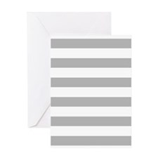 Stripes 1 5x7 W Lt Gray Greeting Card