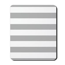 Stripes 1 5x7 W Lt Gray Mousepad