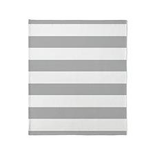 Stripes 1 5x7 W Lt Gray Throw Blanket