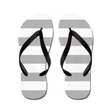 Stripes 1 5x7 W Lt Gray Flip Flops