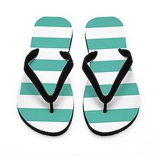 Stripes 1 5x7 W Med Teal Flip Flops