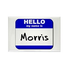 hello my name is morris Rectangle Magnet