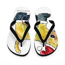 Wheaten Santa Flip Flops
