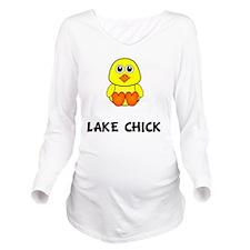Lake Chick Long Sleeve Maternity T-Shirt