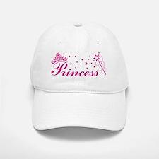 Princess with tiara, stars and magic wand in p Baseball Baseball Cap