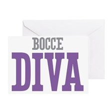 Bocce DIVA Greeting Card