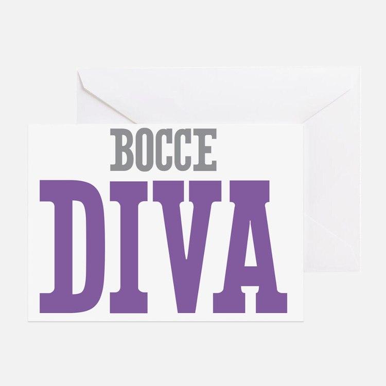 Bocce DIVA Greeting Card