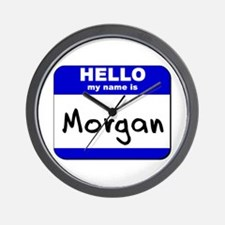 hello my name is morgan  Wall Clock