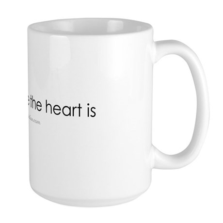 Om is where the heart is Large Mug