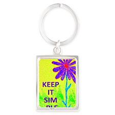 Wildflower Keep It Simple Portrait Keychain