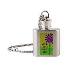 Wildflower Keep It Simple Flask Necklace