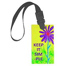 Wildflower Keep It Simple Luggage Tag