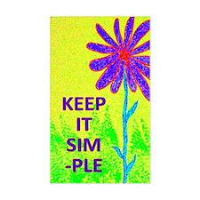 Wildflower Keep It Simple Bumper Stickers