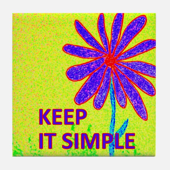 Wildflower Keep It Simple Tile Coaster