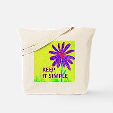 Wildflower Keep It Simple Tote Bag