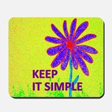 Wildflower Keep It Simple Mousepad