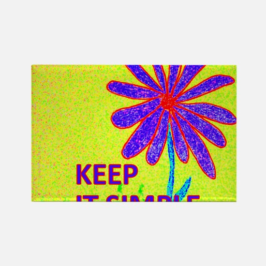 Wildflower Keep It Simple Rectangle Magnet